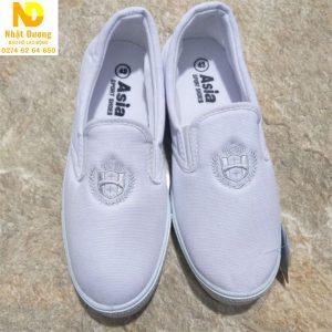Giày bata Asia không dây màu trắng