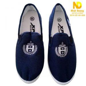 Giày lười bata vải XP xanh