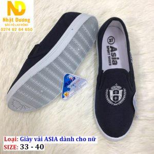 Giày vải Asia không dây màu xanh