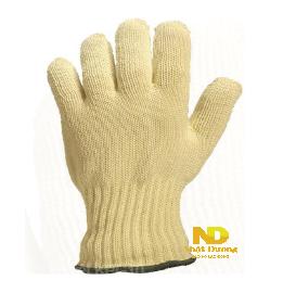 Găng tay chống cắt KPG10  Găng tay chịu nhiệt lên đến 250 độ C. Chất liệu bên ngoài bằng sợi kevlar, lớp lót bên trong 100% cotton, cổ tay được dệt kim