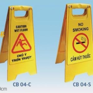 Biển chữ A cảnh báo nguy hiểm cho người qua lại khi làm công tác vệ sinh, lau chùi, thi công sàn hoặc những khu vực nguy hiểm.