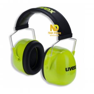 Chụp tai giảm ồn Uvex K2 2600004 ó thể điều chỉnh chiều dài, có thể xoay chụp tai lên phía trên khi không sử dụng. Hàng chính hãng.