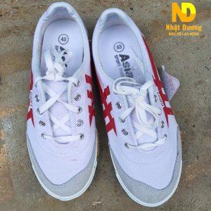 Giày bata vải Asia sọc đỏ